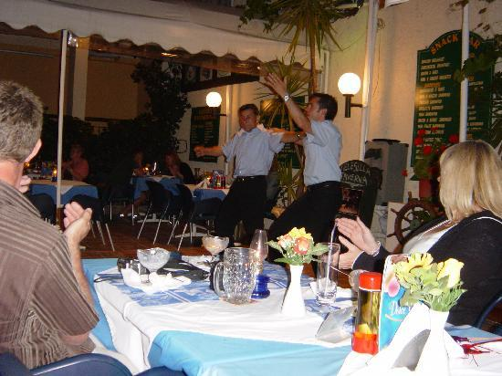 Hotel Telesilla: Greek Dancing in Bar area