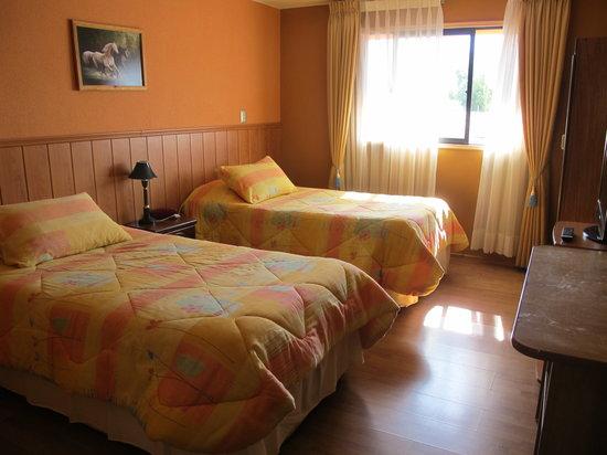 Combarbala, شيلي: unser Zimmer mit 2 Betten
