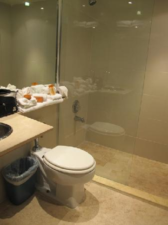 San Juan Beach Hotel: the renovate bathroom