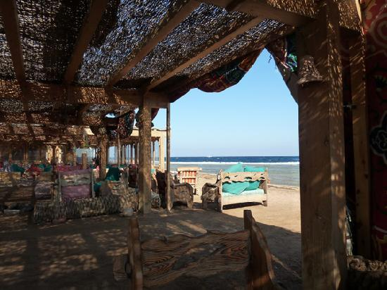 Star Of Dahab Hotel: View from inside the restaurant