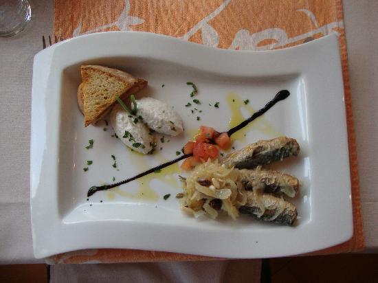 Cosi Come Sei: Vorspeise mit M. Sardinen un Stockfish-M.