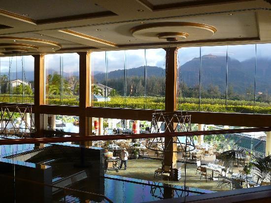St Regis Princeville Resort Hotel Outdoor Dining From Lobby