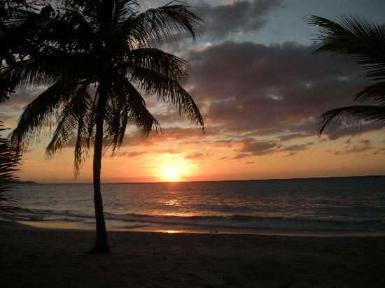 White Sands Negril: View of the sunset by the hotel's beach