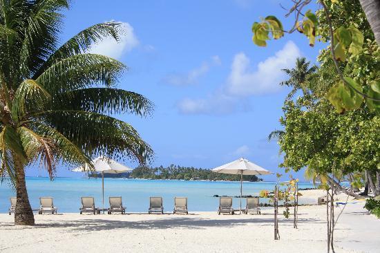 Bora Bora Pearl Beach Resort & Spa: vista stupenda dal ristorante