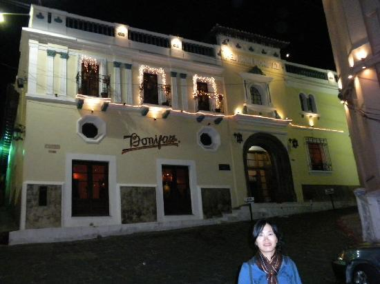 Pension Bonifaz Hotel: hotel at night xmas week