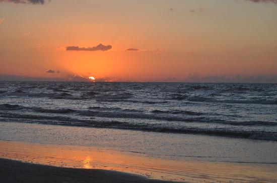 Galveston, TX: Sunrise Over the Gulf of Mexico