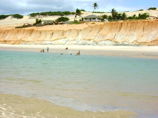 Natural pool in Canoa Quebrada beach