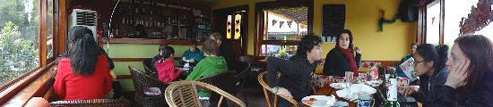 """Trippers Carpe Diem Hostel Yangshuo: Breakfast is a """"family"""" affair at Tripper's; I made so many new friends there."""