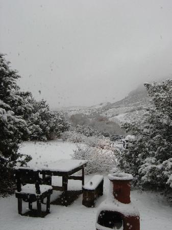 Casitas de Gila Guesthouses: A rare snowstorm