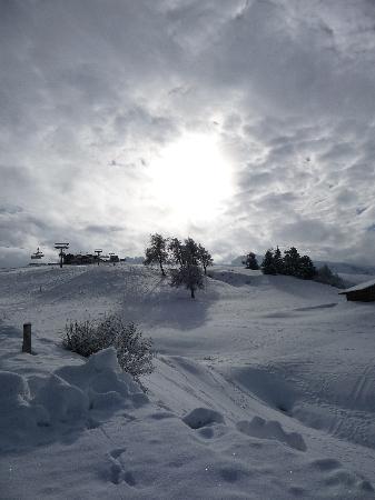 Siusi allo Sciliar, Italia: spettacolare panorama da alpe di siusi