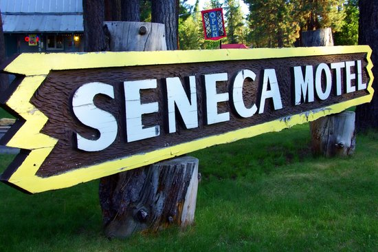 Seneca Motel: Sneca Motel sign