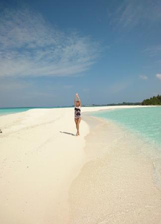 Kuramathi Island Resort : на песчаной косе, конец света)))
