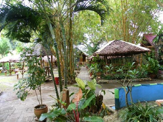 Kawayanan Resort : Lots of cabanas to occupy for a conversation or a dip in the pool
