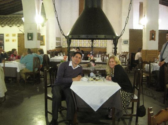 LA CARBONA: Us at dinner.