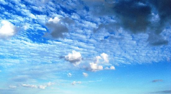 beautiful Mediterranean sky-watching from my bed