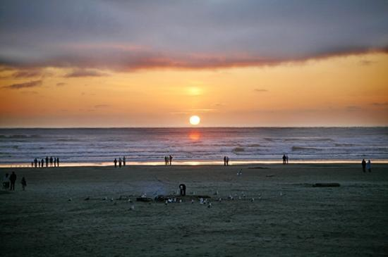 Sunset in Seaside, Oregon