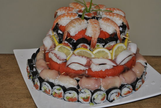 Sushi Cake made by Sushi ON the Sea