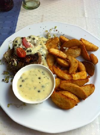 Veritas Hotel: at the hotel restaurant you can try one of the best steak I have ever tried. it's served with gr