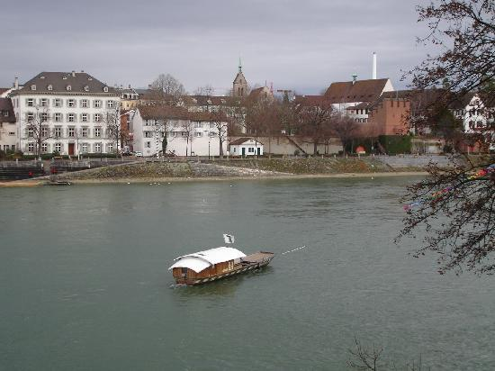 Ferry on Rhine River in Basel