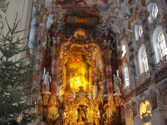 Wies Church: The altar