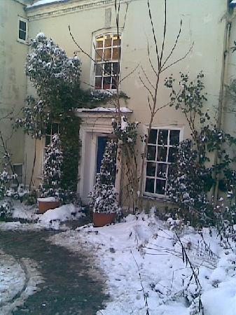 Church Gates: churchgates in the snow