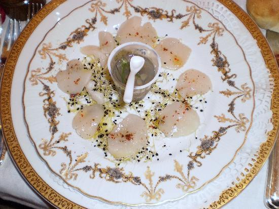 Byzance cote Balcon : tremblant d'huites aux St. jacques huile de truffe
