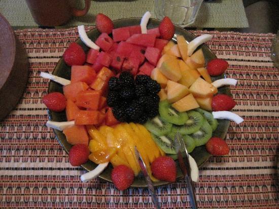 Cascadas de Merida: Fresh fruit for breakfast