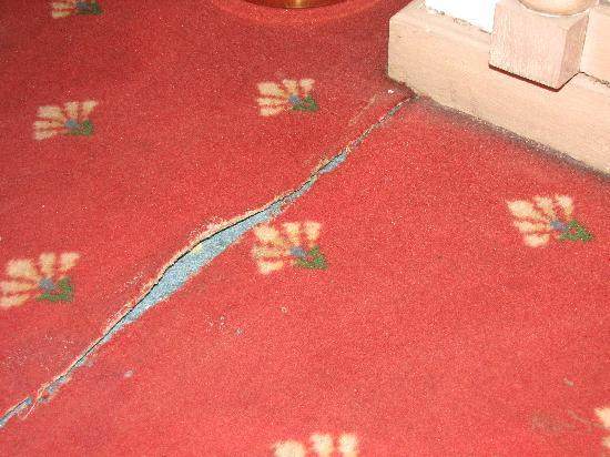 Pyramisa Isis Hotel & Suites Luxor : Frayed carpet in room