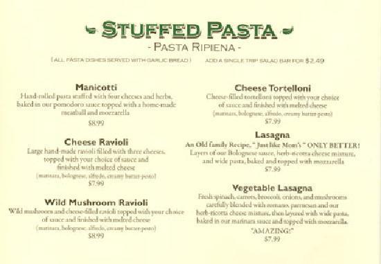 Pro's Italian Dining: Stuffed Pastas