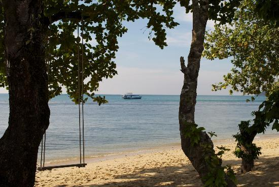 Gajapuri Resort & Spa : beach on the left hand side of hotel