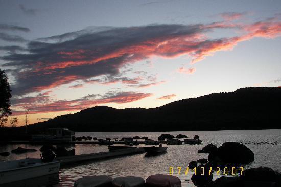 Attean Lake Lodge: sunset