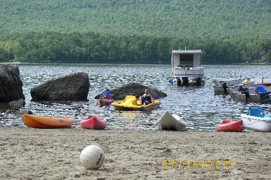 Attean Lake Lodge: the beach