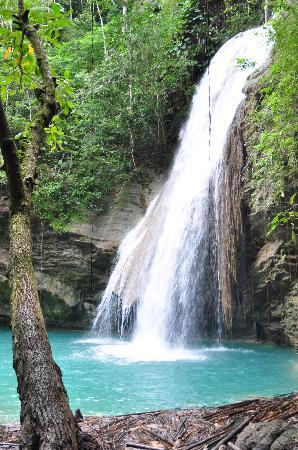Robin's Bay, Jamaica: First glimps of Kwamen Falls