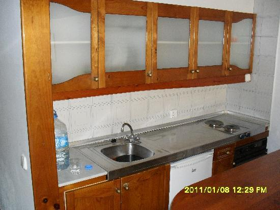 küche im apartment - picture of aparthotel costa mar, puerto del ... - Apartment Küche