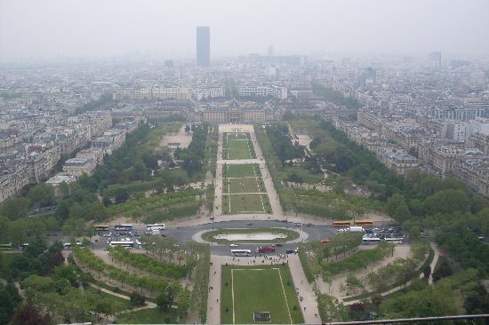 Paris, Frankrike: los jardines del trocadero y el palacio de chaillot