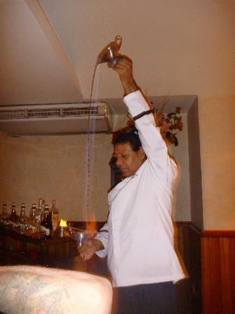 "Sunscape Puerto Vallarta Resort & Spa: Ferdinand ""Captain Coffee"" putting on a show!"