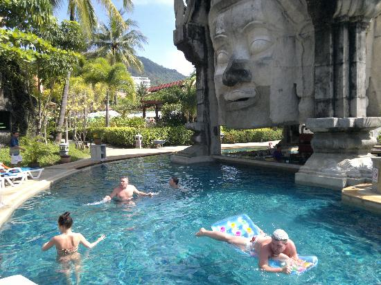 Phuket Orchid Resort & Spa: The swimming pool area is the best part of Phuket Orchid Resort. There are several pools of whic