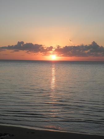 Costa Calma, España: Ein Blick aufs Meer vom Balkon morgens um 6h