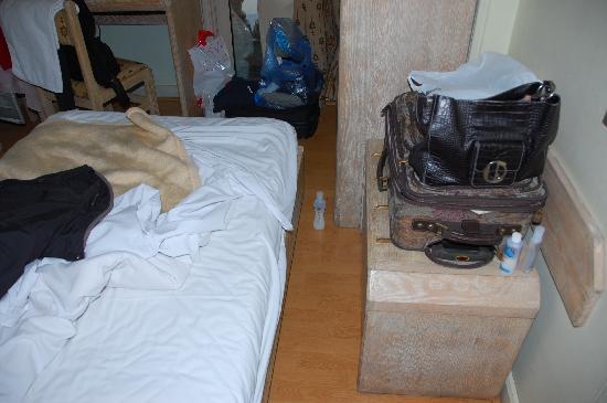 Emilio Hotel: Only Inches Around Bed