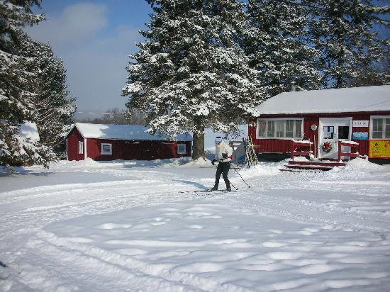 Greensboro, VT: Nordic skiing starts right at the Lodge