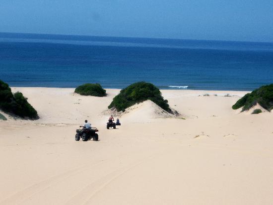 Zongoene Lodge: Quad rides on the dunes