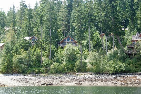 The desolation resort from the water