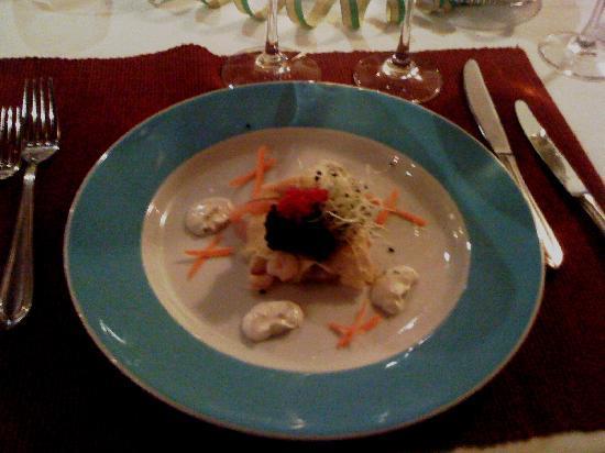 Drei Schwane: Meeresfrüchte Lasagne