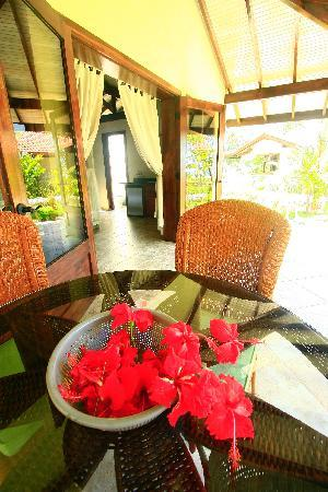 Playa Cielo: Enjoy your morning coffee on your veranda