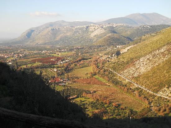 Sermoneta, إيطاليا: Panorama da Sermoneta