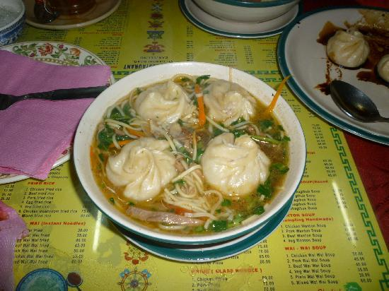 Kunga Restaurant: Momos in soup