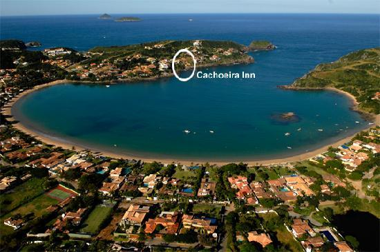 Cachoeira Inn: Aerial view of Ferradura Bay and Beach.