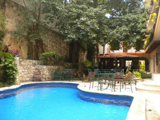 Hotel Maison del Embajador: Piscina y jardín
