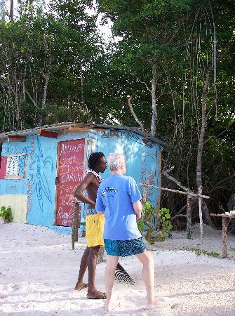 Falmouth, Jamaica: Anthony's Shop on Public Beach