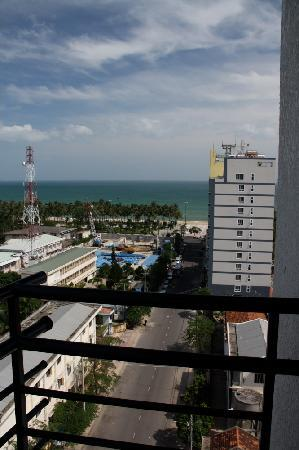 View of Nha Trang beach from the Starlet Hotel